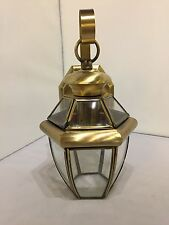 Antique brass Outdoor House Light Porch Lamp Garage Door Outside Solid Brass .