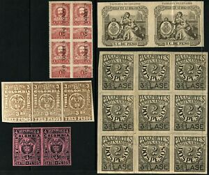 Colombia MEXICO Puerto Rico REVENUE Fiscal Stamp Collection Mint NH