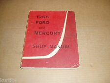 1965 Ford Custom Galaxie 500 Mercury Monterey Parklane shop service manual