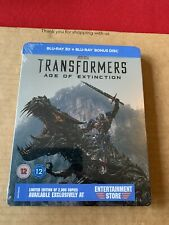 Transformers Age Of Extinction 3D Blu Ray Steelbook NEW/SEALED Entertainment St.