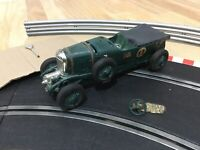 Scalextric Triang 4 1/2 Litre Supercharged Bentley Green C64 Working Slot Car