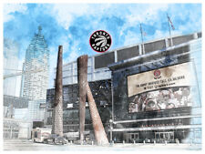 Toronto Raptors Poster Architectural Design Art Print Man Cave Decor 12x16""