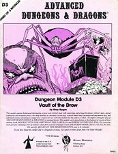 D3 VAULT OF THE DROW MONO RARE UK EDITION EXC+! TSRD3 D&D AD&D