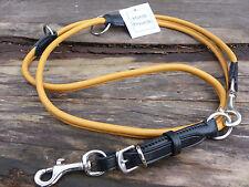 RUNDE LEDERLEINE 2-FARBIGE HUNDELEINE DOG LEAD ROUND 8 MM x 2 M MIT SCHNALLE