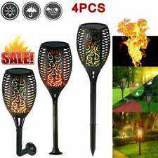 4 Pack 96 LED Waterproof Solar Tiki Torch Light Dancing Flickering Flame Lamp US