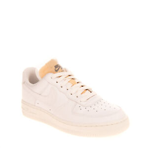 NIKE AIR FORCE 1 Leather Sneakers RIGHT SHOE ONLY EU38 UK4.5 US7 Rhinestone Logo
