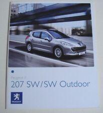 PEUGEOT. 207. Peugeot 207 SW/SW OUTDOOR. MAI 2008 sales brochure