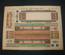IMAGE D' EPINAL VOITURE TRAIN PARIS N°1091 TER IMAGERIE PELLERIN ANCIENNE old