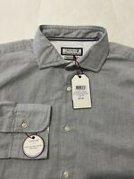 NWT Daniel Cremieux Men's Dress Shirt Heather Gray Flip Cuff $210 Size Large