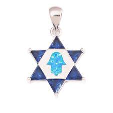 Blue Fire Opal Sapphire Silver for Women Jewelry Fashion Handmade Pendant OD7009