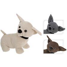 Dog Door Stop Novelty Doorstop Animal Stopper Weighted Fabric Puppy Gift 30cm Cream