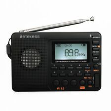 Retekess Portable FM/AM/SW full Band Radio Sound MP3 Player REC Voice Recorder