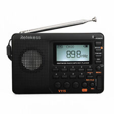 RetekessDigital Portable LCD Receiver TF MP3 REC Player AM/FM/SW Full Band Radio
