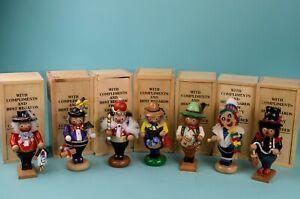 "Amazing set of Seven Steinbach Mini Nutcrackers ~6"" Collectors with Club Box"