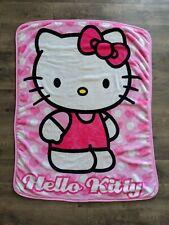 Hello Kitty Pink Polka Dot Fleece Blanket Plush Throw Blanket Sanrio