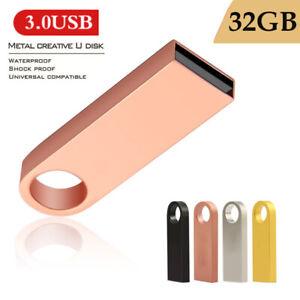 Mini USB 3.0 Flash Drive 32GB Metal Pen Drive Pendrive U Memory Sticks for PC