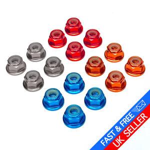 1/10 RC Wheel Nuts Nyloc Locknuts M4 Beadlock Tamiya Traxxas TRX4 Axial Losi
