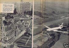 Coupure de presse Clipping 1957 La Caravelle et Le Corbusier  (2 pages)