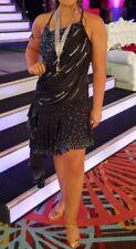 Junior/Ladies Latin Ballroom Dress Rhythm Dress - Size 2-6 - Black & Royal Blue