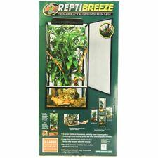 """New listing Zoo Med ReptiBreeze Open Air Black Aluminum Screen Cage Xl(24""""L x 24""""W x 48""""H)"""