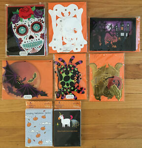 Lot Of Papyrus and Recycled Paper Greetings Halloween Cards - New In Package