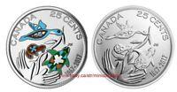 Canada 2017 25 Cent Hope For A Green Future 150th Ann Color + Non Color coin Set