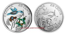 Canada 2017 25 Cent Hope For A Green Future 150th Ann Color + Non Color coin Set