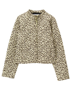 Gymboree Tan Brown Animal Leopard Print Quilted Jacket Girl Size M 7-8 NEW
