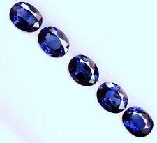1.90 Cts Tol  Natural Gemstone Oval Blue Sapphire Lot  5Pcs   4.9x3.9  MM  LxW