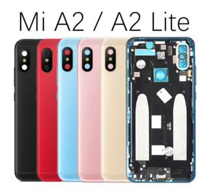 For Xiaomi Mi A2 and Mi A2 Lite Rear Battery Case Housing Glass Back Cover Door
