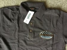Harley Davidson Brown Polo golf Shirt NWT Men's medium
