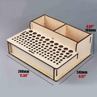 Wooden Pigment Paint Bottles Rack Organizer Epoxy Tools Storage Model Box #102