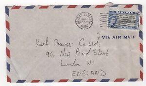 1964 BAHAMAS Air Mail Cover NASSAU to LONDON GB SG237 Overprint