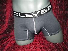 Clever Underwear Climbing Boxer Brief Heather Black (L)