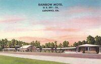 Postcard Rainbow Motel Ludowici GA