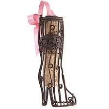 Wine Lovers--Mini CORK CAGE Christmas Ornament-BOOT-with To-From Cork
