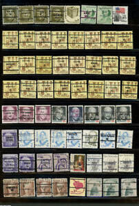 Large lot 64 precanceled, Bulk Rate U S Stamps as shown (2a)