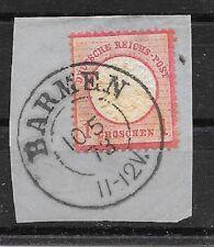 pb 721 DEUTSCHES REICH MiNr 19 o auf Briefstück