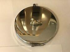 Bird TG200 Fine Pewter on Round Shape Compact Mirror