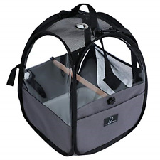 Bird Travel Carrier Parrot Carrier Transparent Breathable Bird Cage Include B.