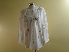 Cjbanks Women Plus Size Floral Embroidery Cotton Blouse Top 00838-7622 /White/2X