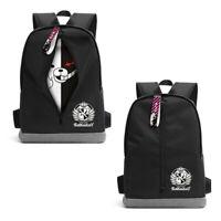 Hot Anime Danganronpa Monokuma Backpack Shoulder Bag Black Bookbag School Travel