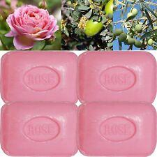 Lot de 4 savons de toilette parfumés 100g parfumé ROSE