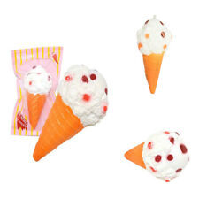 Jumbo Squishy Kawaii Ice Cream Cake White Cone Slow Rising Scented Kids Xmas Toy