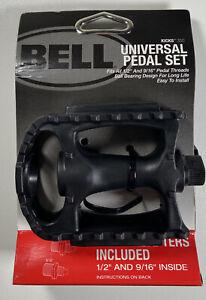 Bell Sports Kicks 350  Composite Universal Bike Pedal Set Fits 1/2 & 9/16 Thread