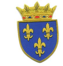 Medieval Royal House Crown Shield France French Fleur de Lis Coa Heraldry Patch