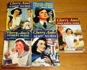 Cherry Ames Nurse Book Lot (5 Different) 1943 -- 1953  H/C With Dustjackets