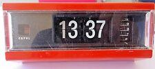 Vtg Japan Copal Flip Alarm Clock Eames Mid Century Modern Space Age Red Digital
