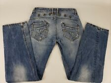 Kaporal 5 Blue Jeans Size 28 US 38 FR Loose Fit Inseam 33 Inch Distressed