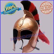 Troy Medieval Knight Greek Armor Helmet Armour Copper Antique W/ Multi Plum ch20